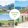 4 stunning greeting cards of Tuscany, Italy