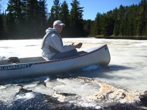Just making sure you can't paddle through the ice...