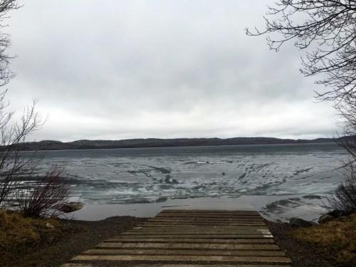 Gunflint Lake Public Landing Ice Spring 2016