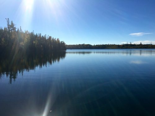 Round Lake Boundary Waters entry point October