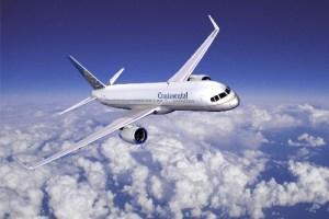 Continental Airlines ofrece la posibilidad de adquirir alimentos en una serie de vuelos