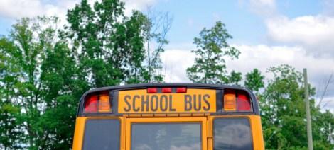 niños en transportes escolares