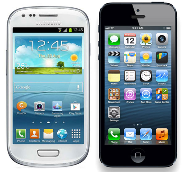 SGS3Mini vs iPhone5