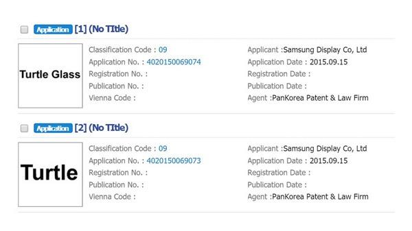 Samsung Turtle Glass registration