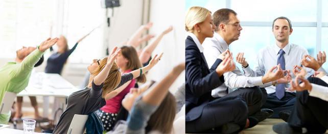 Ralización de Yoga en ámbito laboral.