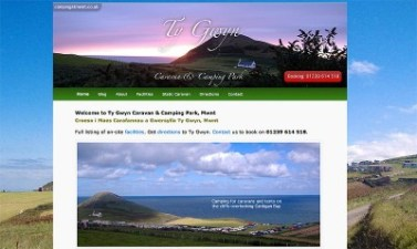 Camping at Mwnt, Ty Gwyn Caravan and Camping Park