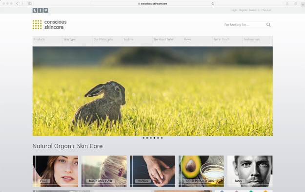 Conscious Skincare new website