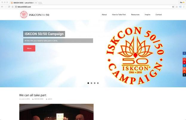 iskcon 5050 campaign