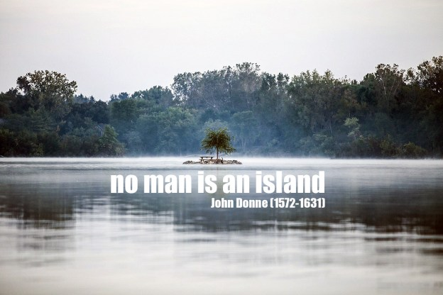no man is an island John Donne