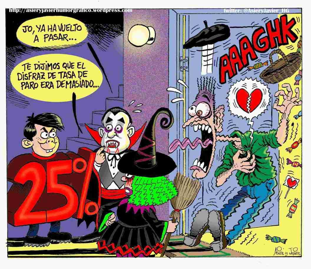 Halloween y paro