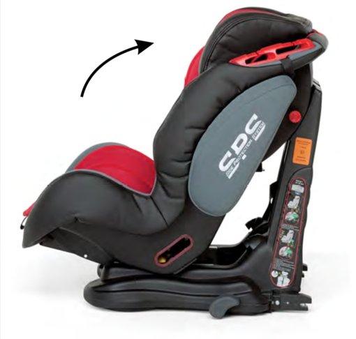 inclinación silla bebé
