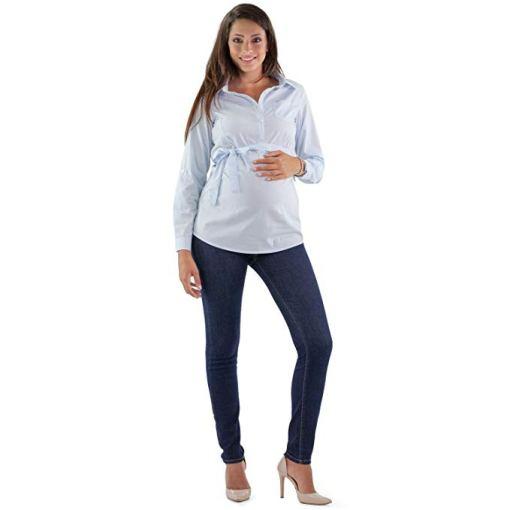 pantalón para embarazada azul