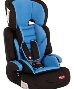 silla azul de coche