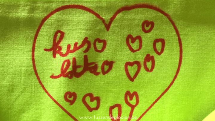 Een tas vol liefde - cadeau juf