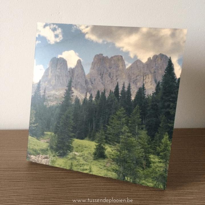 Inspiratie kerstcadeau houten fotoblok smartphoto