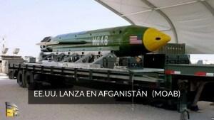 EE.UU. lanza en Afganistán la bomba no nuclear más potente (MOAB)