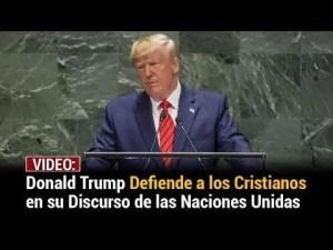 Lee más sobre el artículo Donald Trump defiende a los cristianos con impactante discurso en la ONU