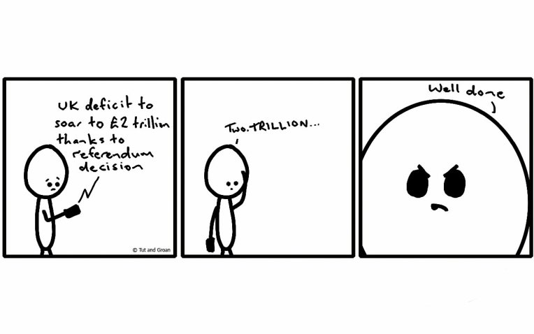 Tut and Groan Three Panels: Two Trillion