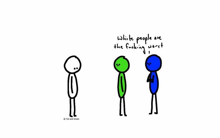 Tut and Groan White People cartoon