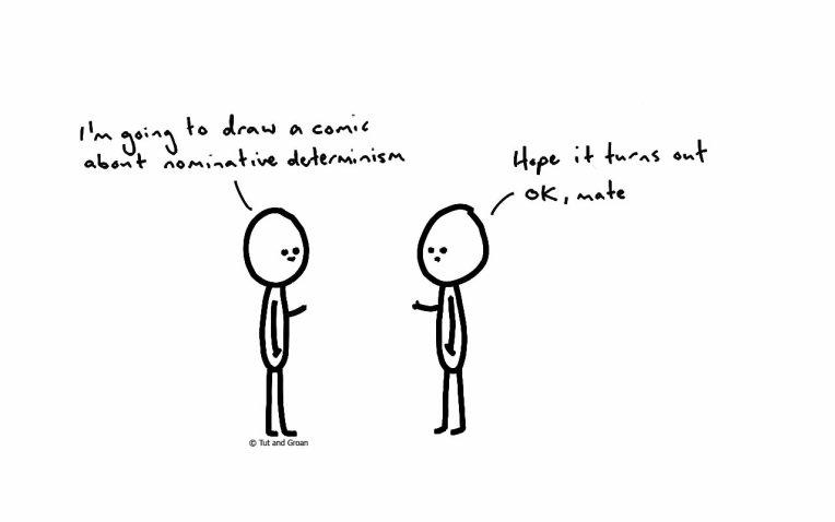 Tut and Groan Nominative Determinism cartoon