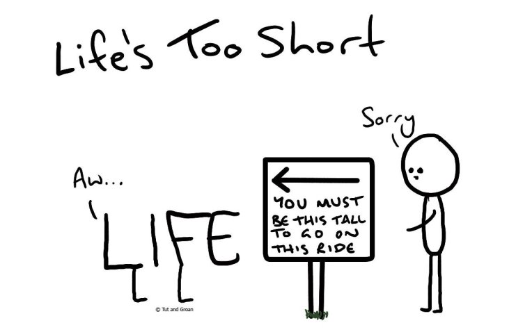 Tut and Groan Life's Too Short cartoon