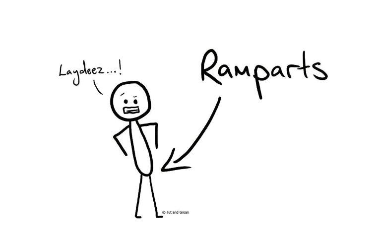 Tut and Groan Ramparts cartoon