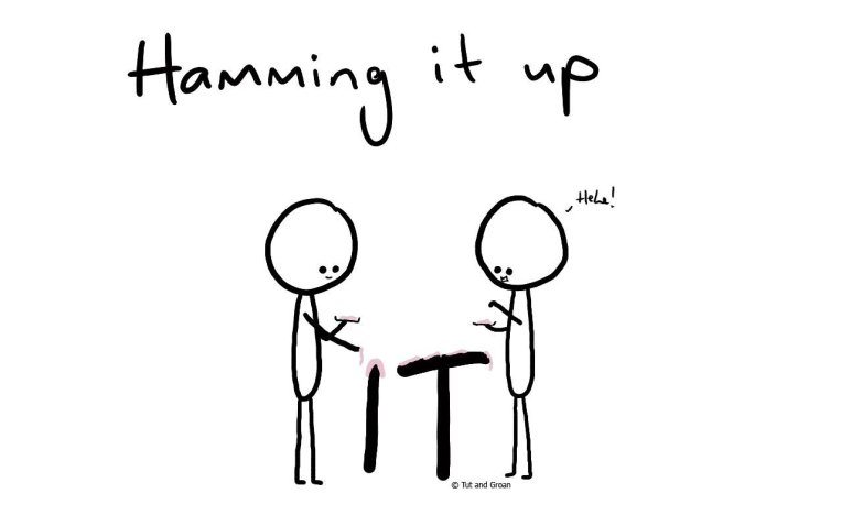 Tut and Groan Hamming It Up cartoon