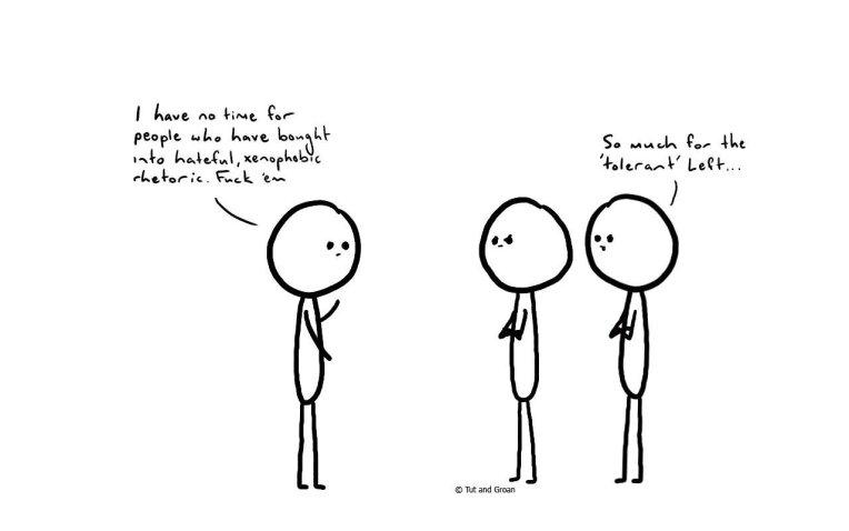Tut and Groan Tolerant Left cartoon