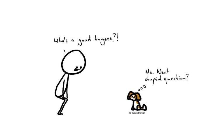Tut and Groan Good Boy cartoon
