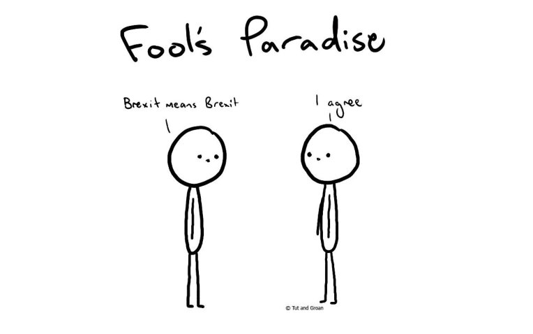 Tut and Groan Fool's Paradise cartoon