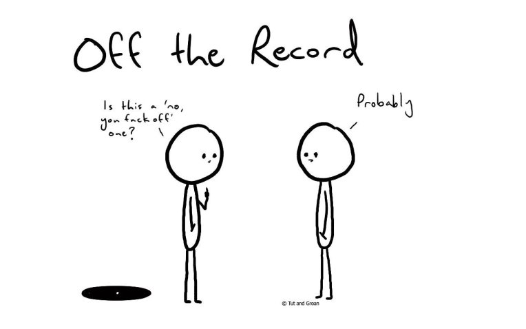 Tut and Groan Off the Record cartoon