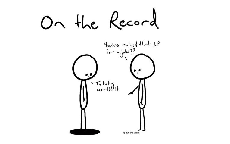 Tut and Groan On the Record cartoon