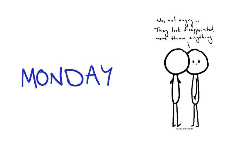 Tut and Groan Blue Monday cartoon