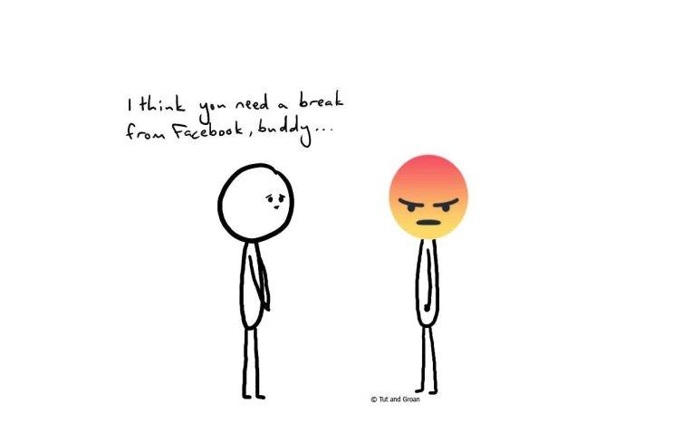 Tut and Groan A Break from Facebook cartoon