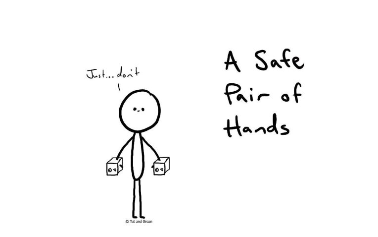 Tut and Groan A Safe Pair of Hands cartoon