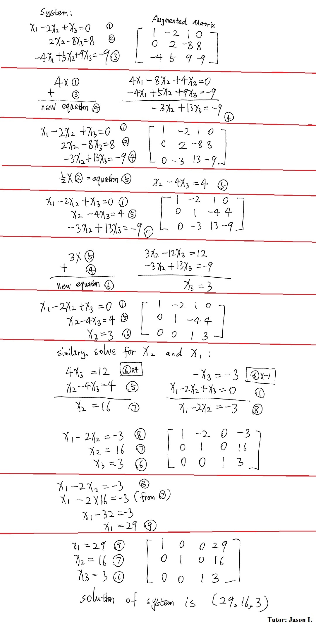 Solving Systems Of Equations Using Augmented Matrices