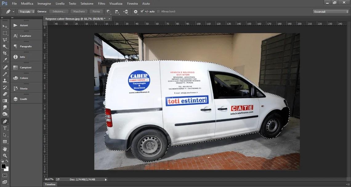 Selezione inversa di Photoshop