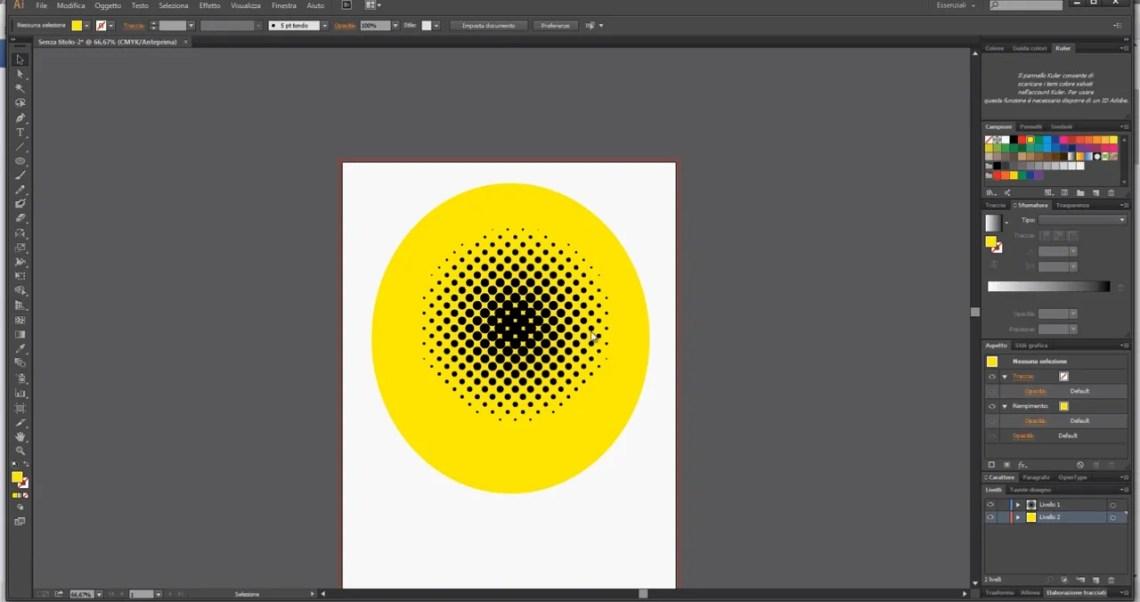 Cerchio con sfondo giallo.