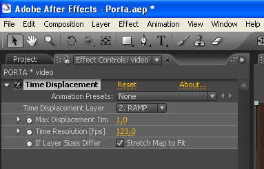 After effects e il displacement – USO DEL TIME DISPLACEMENT 2