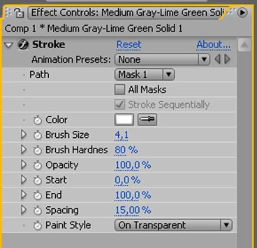 AFTER EFFECTS TUTORIAL: USO DI STROKE PER DISEGNARE GRAFICA NELL'ARIA 7
