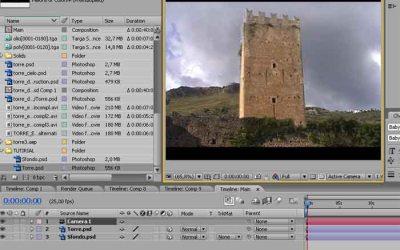 EXPLOSION TUTORIAL – STEP 2. Esplosione di una torre in after effects
