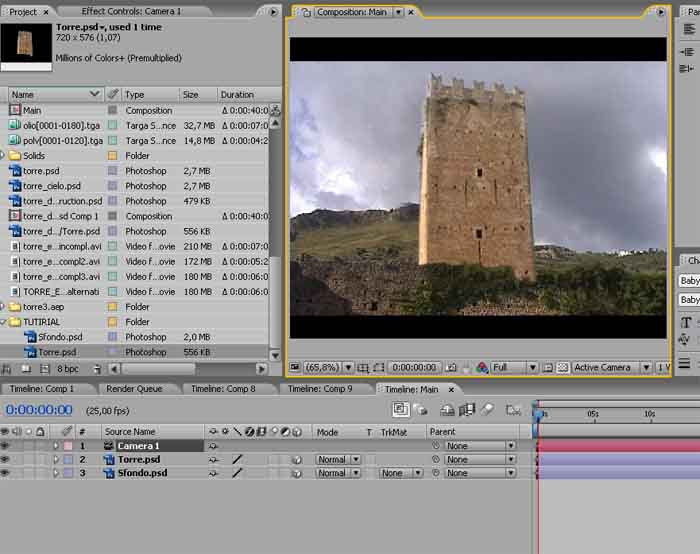 EXPLOSION TUTORIAL – STEP 2. Esplosione di una torre in after effects