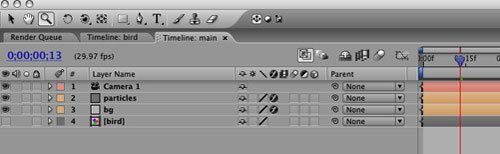 After effects compositing: Animare un uccello in After Effects 13