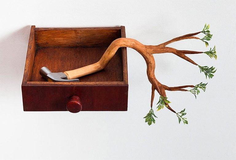 Sculture di alberi divertenti di Camille Kachani 4