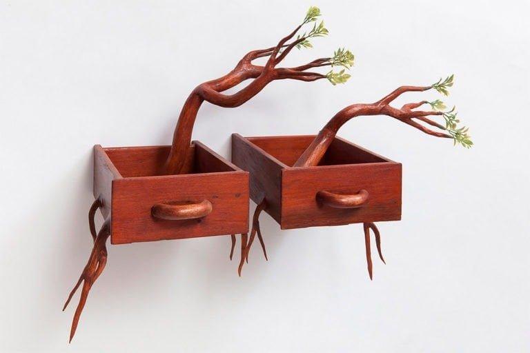 Sculture di alberi divertenti di Camille Kachani 7