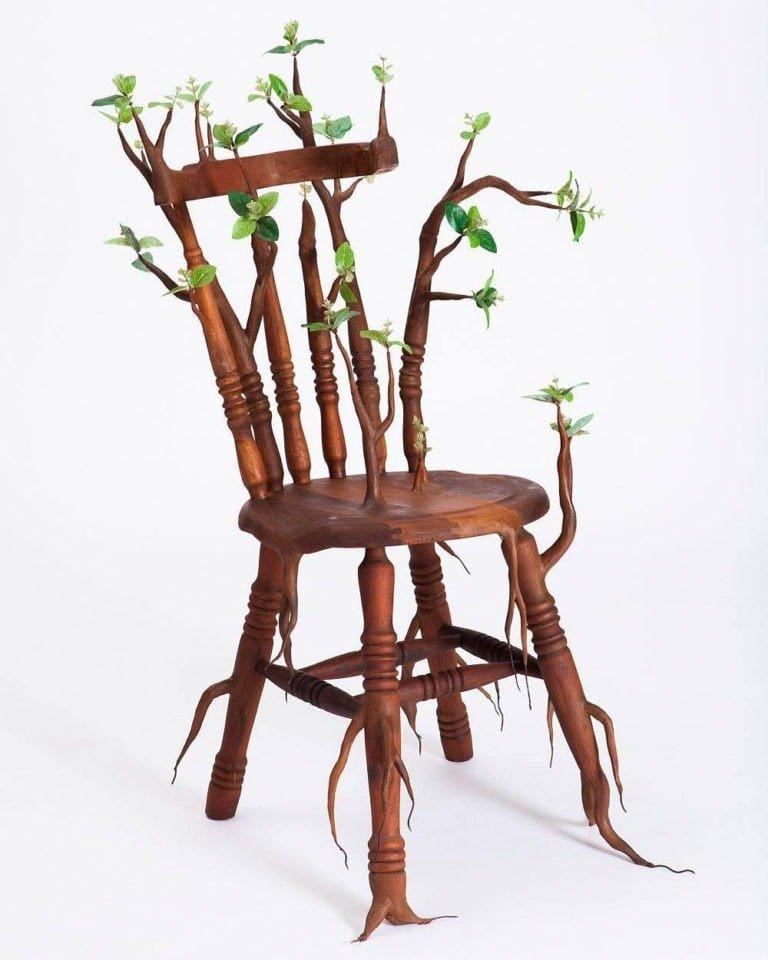 Sculture di alberi divertenti di Camille Kachani 2
