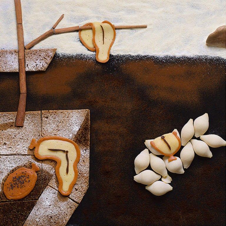 Usano il cibo per creare delle opere sorprendenti. 8