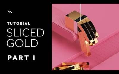 Come creare un materiale dorato in cinema4d e tagliarlo come burro. | Cinema 4D tutorial – Completo