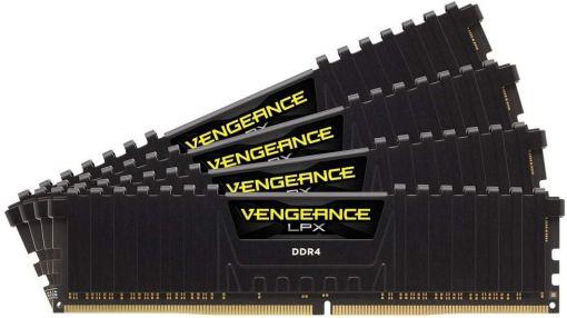 Corsair Vengeance LPX Memorie per Desktop a Elevate Prestazioni, 64 GB (4 X 16 GB), DDR4, 2666 MHz, C16 XMP 2.0, Nero 1