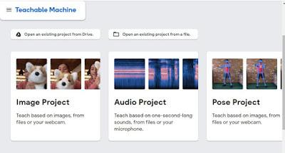 Create Project google teachable machine for AI class 9